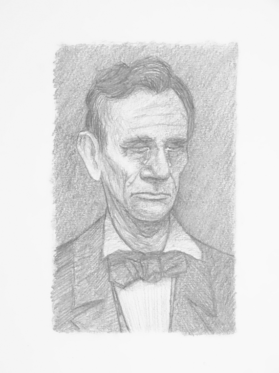 Abraham  Lincoln crying